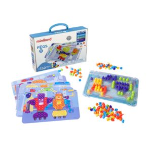 "Pegs ?"" (150 pieces) - Bright Colors"