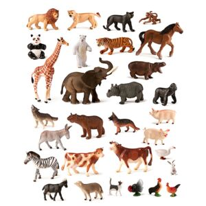 Farm & Jungle Animals (30 figures)