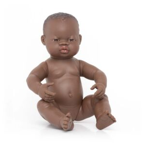 Newborn Baby Doll African Girl 40 cm