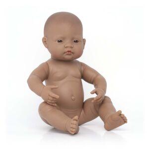 Newborn Baby Doll Hispanic Girl 40 cm