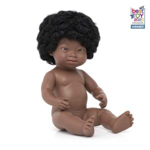 Baby Doll African Girl with Down Syndrome 38 cm