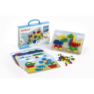 Pegs 10 mm (240 pieces) - Primary Colors