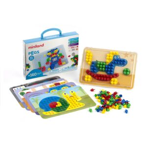 Pegs 15 mm (160 pieces) - Primary Colors