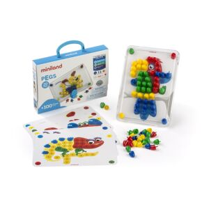 Pegs 20 mm (100 pieces) - Primary Colors