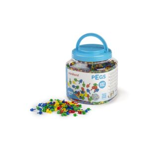 Pegs 10 mm (2.600 pieces) - Primary Colors