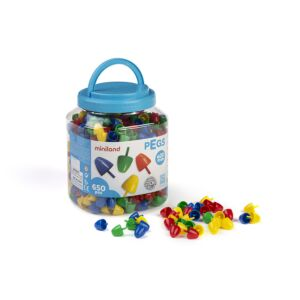 Pegs 20 mm (650 pieces) - Primary Colors