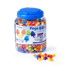 Pegs 15 mm (1.300 pieces) - Bright Colors