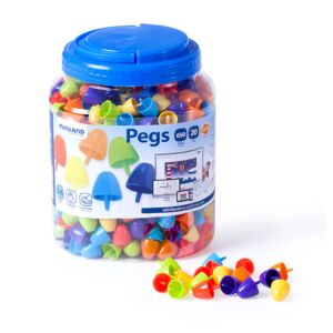 Pegs 20 mm (650 pieces) - Bright Colors