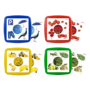 4 Puzzles Set: Primary Colors