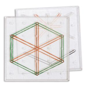 6 Geoboards Set (15 cm transparent)