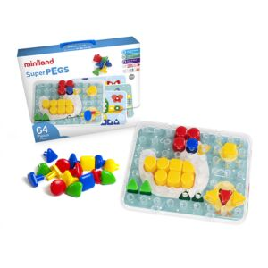 Superpegs (64 pieces) - Primary Colors
