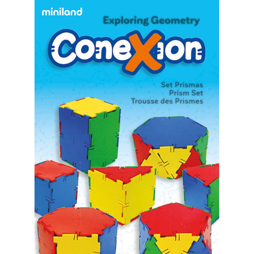 Multi-Color Miniland Miniland32123 Conexion Set Prisms 84 Pieces