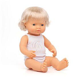 Baby Doll Caucasian Girl 38 cm