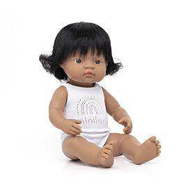 Baby Doll Hispanic Girl 38 cm