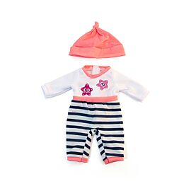Cold weather salmon pjs 32cm