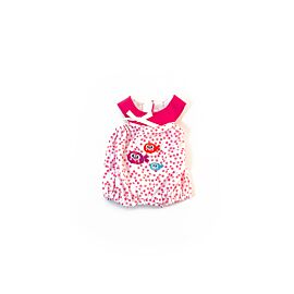 Cold weather pink dot pjs 32cm
