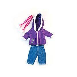 Cold weath. Purple fleece 32cm