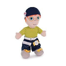 Diversity Fastening Soft Body Doll Caucasian Boy