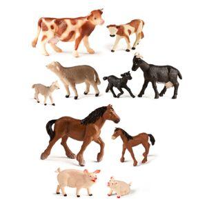 Animales de granja y bebés (10 unidades)