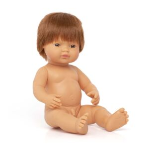 Muñeco bebé caucásico pelirrojo 38 cm