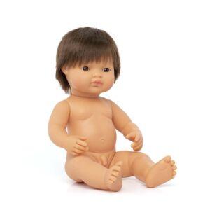 Muñeco bebé caucásico moreno 38 cm