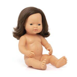 Muñeco bebé caucásica morena 38 cm