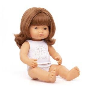 Muñeca bebé caucásica pelirroja 38 cm