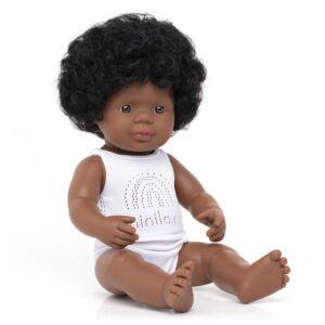 Muñeca bebé afroamericana 38 cm