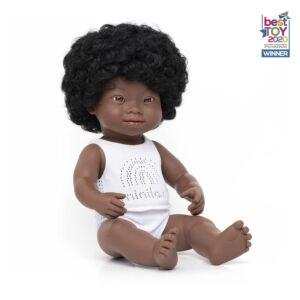 Muñeca bebé africana con síndrome de Down 38 cm