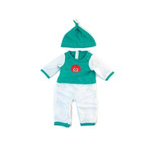 Pijama frío verde rayas 38cm