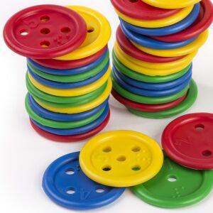 Botones ensartables (140 piezas)