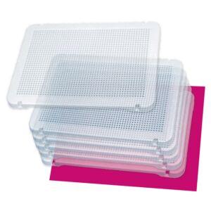 Pegs: Set de 6 placas transparentes