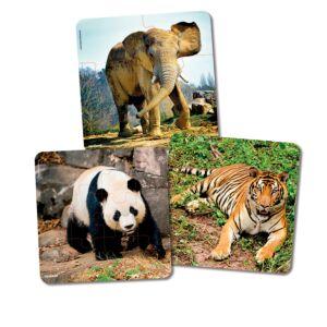 Set de 3 puzles progresivos: Animales