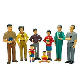 Familia asiática (8 unidades)