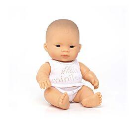 Muñeco bebé asiático 21 cm