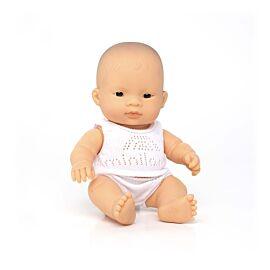 Muñeca bebé asiática 21 cm