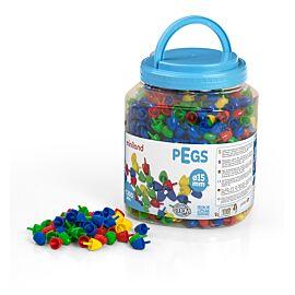 Pegs 15 mm (1.300 piezas) - Primary Colors