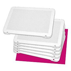 Pegs: Set de 6 placas blancas