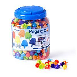 Pegs 20 mm (650 piezas) - Bright Colors