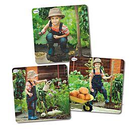 Set de 3 puzles progresivos: Vida de la planta