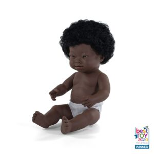 Baby Doll African Girl with Down Syndrome 15""