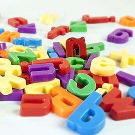 Magnetic Lowercase Letters (76 pieces)