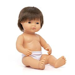 "Baby doll brown hair boy 15"""