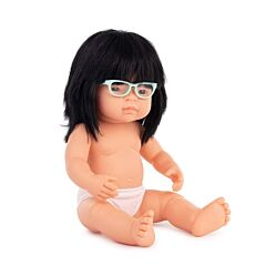 Baby Doll Asian Girl with Glasses 15''