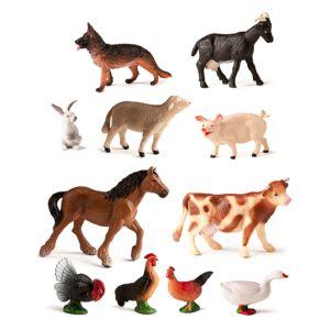 FARM ANIMALS 11 FIGURES/CONT