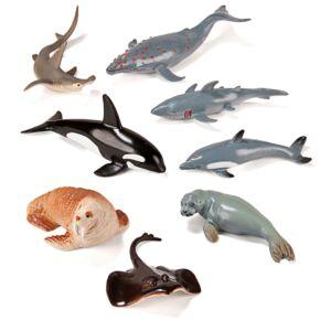 SEA ANIMALS 8 FIGURES/CONTAINE