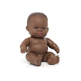 BABY DOLL AFRICAN BOY/BAG