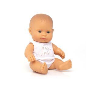 Baby doll caucasian girl 21 cm