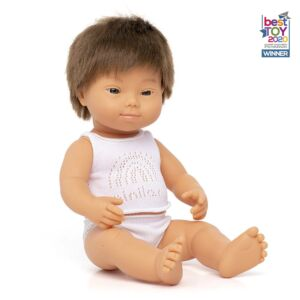 Baby Doll Caucasian Boy with Down Syndrome 38 cm