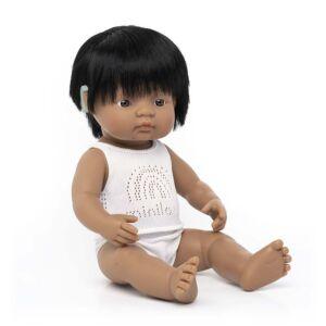 Muñeco bebé latinoameric. implante coclear 38 cm